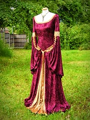 Angelica-012 Medieval wedding gown