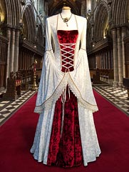 Lily-012 Medieval wedding gown