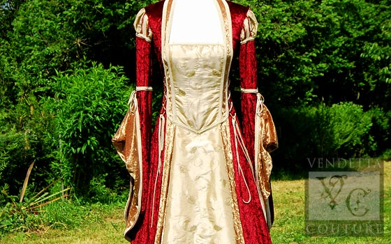 Betony-012 medieval style gown