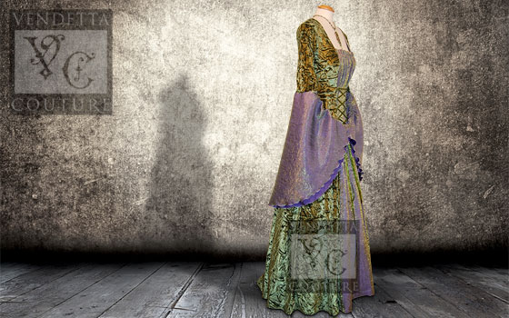 Callalily-015 medieval style dress