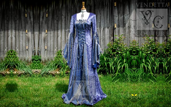 Callalily-020 medieval style dress