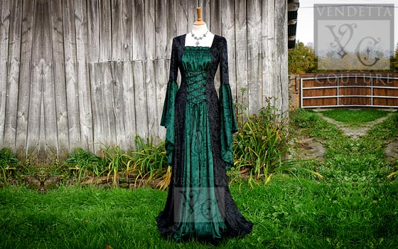 Callalily-021 medieval style dress