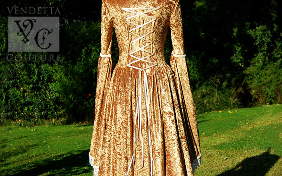 Freesia-012 medieval style gown