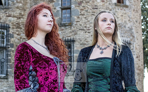 Two medieval gowns