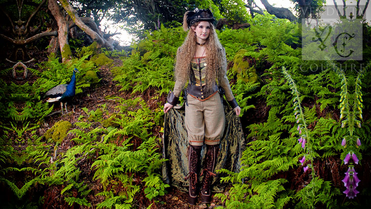 Faery steampunk dress UK
